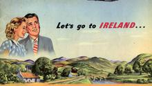 An Aer Lingus poster from the 1950s courtesy of Tony Murray, taken from  Doesn't Time Fly? Aer Lingus - Its History by Mike Cronin