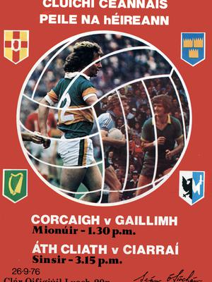 The programme from the 1976 All-Ireland Football Final.