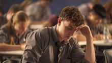 In the hot seat: Connell (Paul Mescal) sitting exams in TV's Normal People. Photo by Enda Bowe