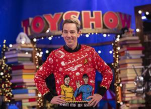 Ryan Tubridy pictured on the Roald Dahl themed set of The Late Late Toy Show. Picture Andres Poveda