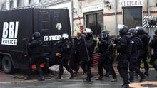 French police move in after the Charlie Hebdo massacre