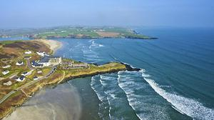 A glorious view of Inchydoney beach and hotel