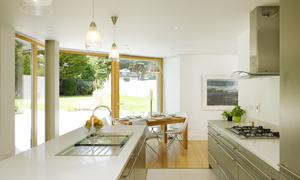 Large glass doors brighten up the whole room. Dermot Bannon Architects. Photo: Ross Kavanagh