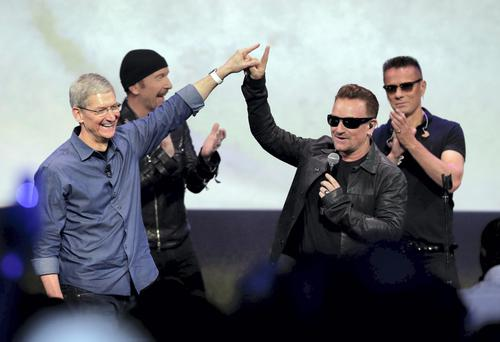 U2 came under fire over their deal with Apple's iTunes