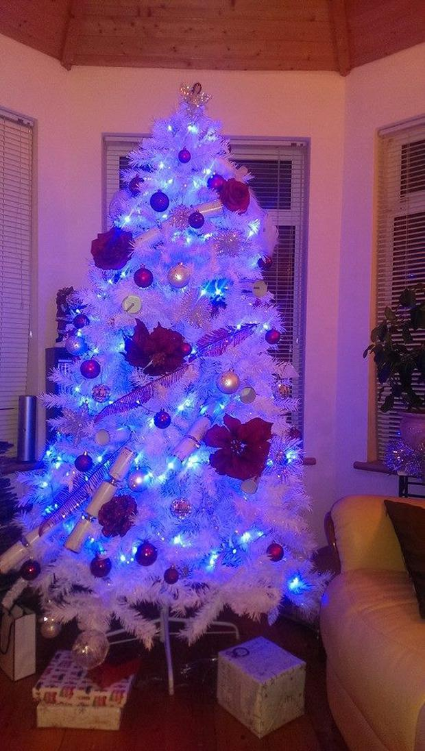 Another example of a tree from Rate My Xmas Tree on Facebook.