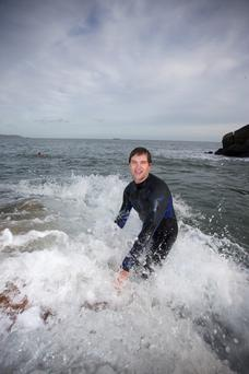 Johnny Carroll: After his Christmas day swim he will have a mince pie and maybe a shot of whiskey.