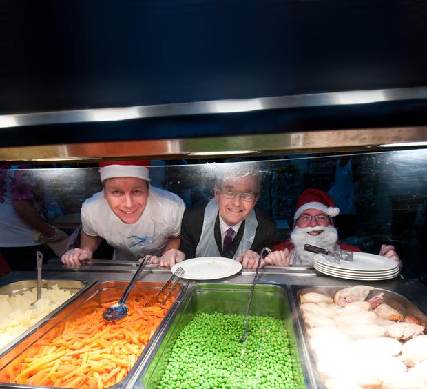 Peas on earth: Volunteers give up part of their Christmas Day to help feed the homeless
