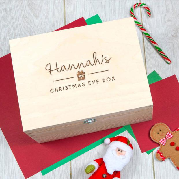 box of delights a personalised christmas eve box costs around 34 at notonthehighstreet