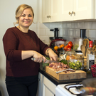 Hold the meat: Vegetarian Linda Legzdina will be trying a tofurkey from Sova Foods this Christmas. PHOTO: MARK CONDREN
