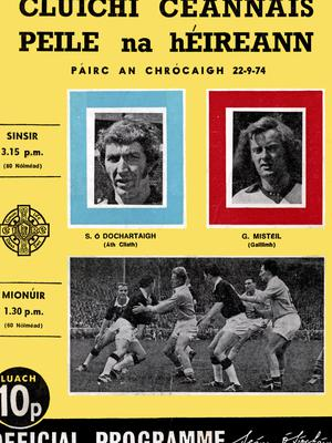 The programme from the 1974 All-Ireland Football Final between Dublin and Galway.