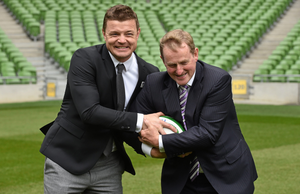 Enda Kenny, seen here with Brian O'Driscoll, was a master at the cringeworthy photo-op