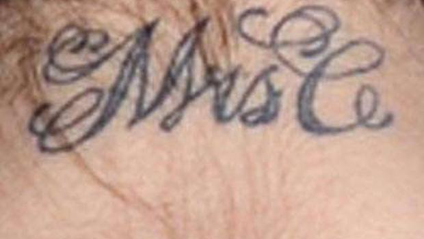 Cheryl Cole's Mrs C Tattoo