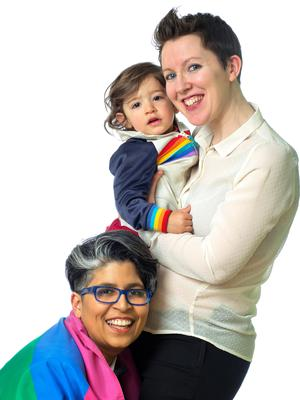 Dil Wickremasinghe and Anne Marie Toole with their son Phoenix. They are expecting their second child. Photo: David Conachy
