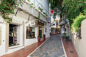 A street in the Plaka district in Athens