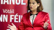 Sinn Fein's Mary Lou McDonald; the party will not win more seats than Fianna Fail in the next Dail