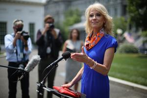 Kellyanne Conway, counsellor to Donald Trump, whose husband George is a leading light in the anti-Trump Lincoln Project