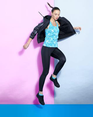 BUY: Hooded jacket, €35, pattern vest, €12, base layer leggings, €20, and sports shoes, €20; all available from Dunnes Stores and online at dunnesstores.com