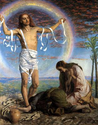 The Risen Christ with the Two Marys in the Garden of Joseph of Arimathea by William Holman Hunt