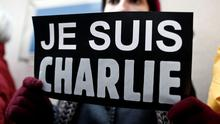Charlie Hebdo supporters have been showing their solidarity with 'I am Charlie' signs