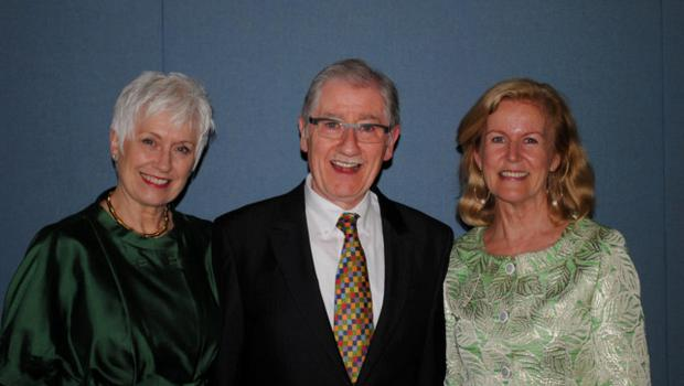 Siobhan Cleary and Joe Dowling with Irish Ambassador to the US,  Anne Anderson. Photo: Lauren Mueller