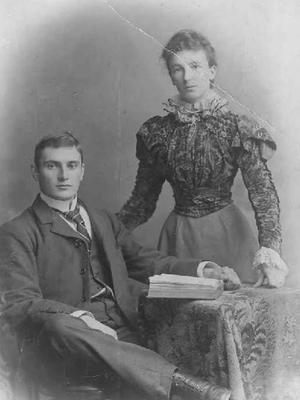 Jerome and Anna Teresa (Annetta), around the time of their marriage, August 30, 1897