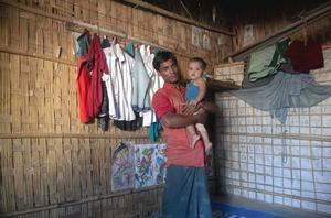 Ahassan Mohammad met and married his wife two years ago in the refugee camp, and now they have a one-year-old boy. Ahassan and his wife find it very difficult starting family life far from home