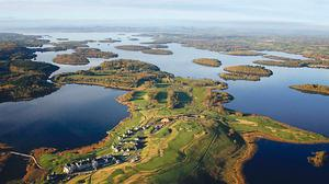 An aerial view of Lough Erne Resort, Co Fermanagh - Russian leader Vladimir Putin is reputed to have swum in the lake when the G8 was held there.