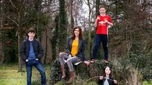 Emily Hourican pictured with her children, Malachy, Davy and Bee. Photo: Frank Mc Grath