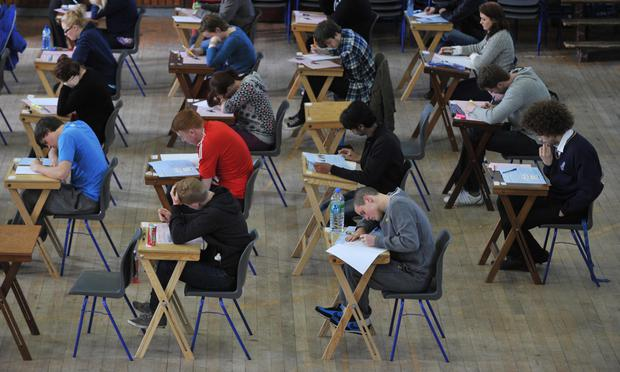 Students sitting the exams