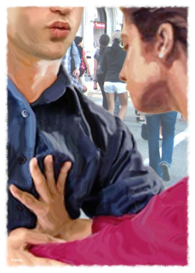 A reader is unhappy about her boyfriend's public affection.