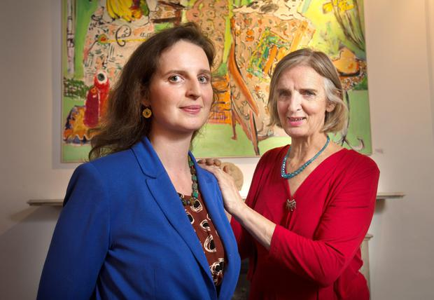 Elizabeth Cope and her daughter Phoebe are holding a joint exhibition together of paintings they made from Brazil to Ballinskelligs