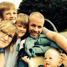 Heidi Scrimgeour with husband Matt and kids Edan (10), Zack (8) and Alba (17 months)
