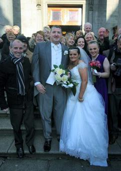 Christine and Vincent Callaghan pictured on their wedding day