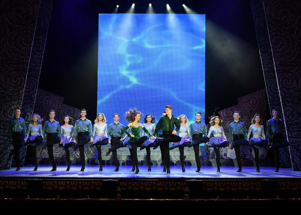 Amy-Mae performing with the Riverdance cast