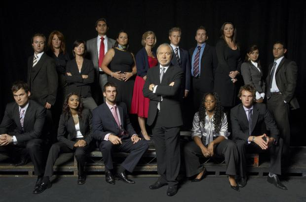 Jennifer (back row, third from left) on The Apprentice in 2008