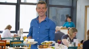 Michael Kelly, founder of Grow HQ in Waterford, with some of the dishes aimed at children. Photo: Patrick Browne