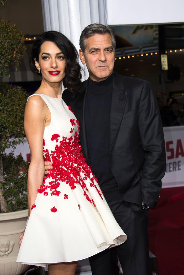 Amal and George: Unlikely to struggle too much with the supermarket shop