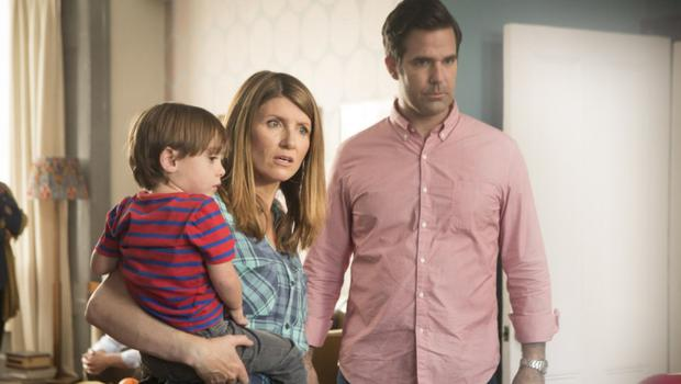 Some mothers do have 'em: Sharon Horgan, seen here starring in the hit TV series Catastrophe, has won plaudits for her all-too-real portrayal of messy motherhood
