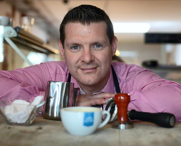 Class act: Alan Andrews of Coffee Culture Ireland offers barista training