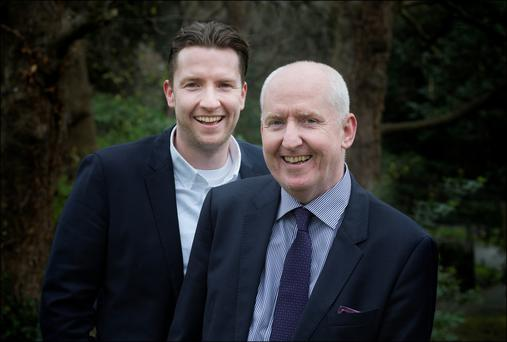 Rob Galvin and his father Michael, who runs the family business Galvin for Men. Photo: David Conachy