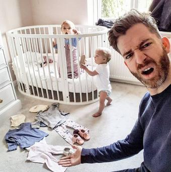Just like real life: Simon Hooper documents life with his children
