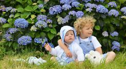 Picture perfect: Fiona Naughton shares pictures of her kids, Beau and Tyler Lee, online as part of a family scrapbook