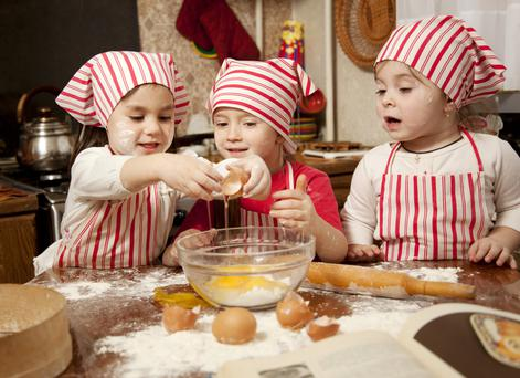 Sweet treat: Baking is a great way to keep the little ones occupied