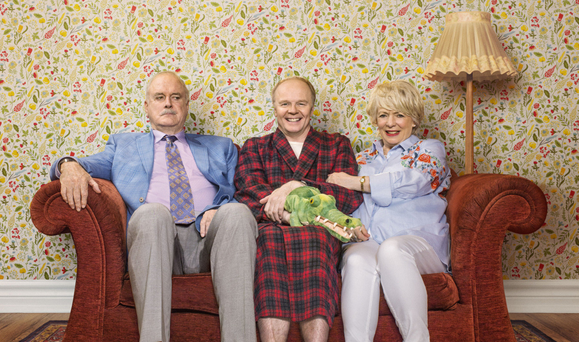 Crowded house: In Hold the Sunset, John Cleese and Alison Steadman play a new couple who intend to get married until her adult son moves back in and disrupts their plans