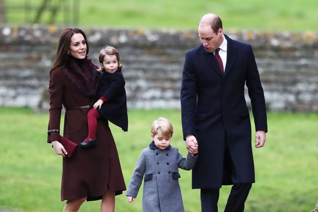Expanding family: Kate and Will with Charlotte and George