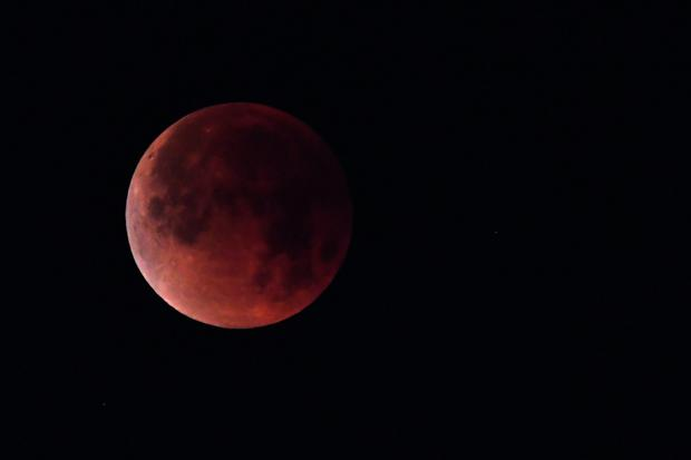 The Blood Moon. Photo: Getty Images