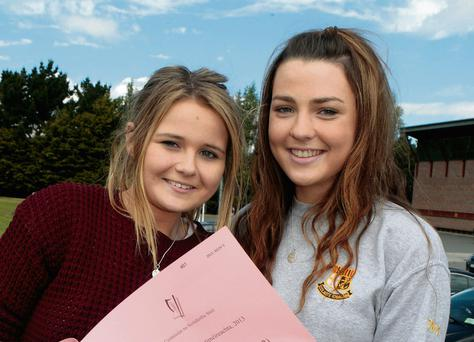 Loreto Convent Kilkenny students after the junior cert history exam
