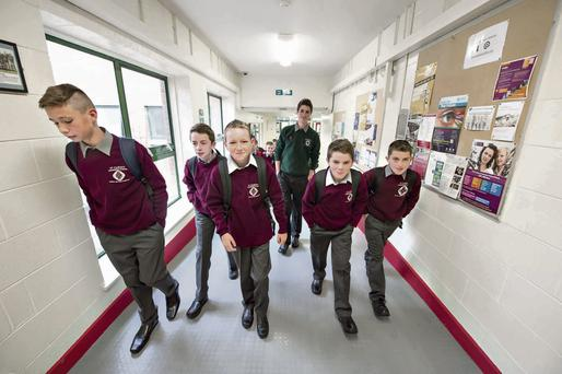 Here come the boys: At Kells Community School first year students are assigned a 'buddy' from sixth year to act as mentor. Barry Cronin