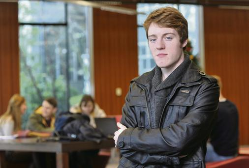 Eoghan Doyle is studying Biological and Chemical Sciences. Pictured in the UCC library, Cork.