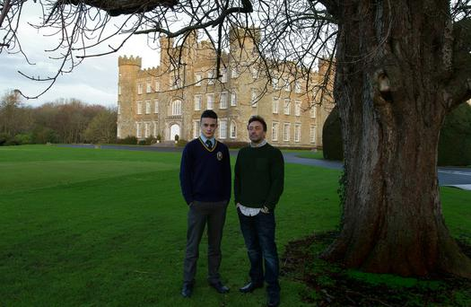 Dieter Hartfiel with his son Cain, who is in Gormanston College. Photo: Tom Conachy